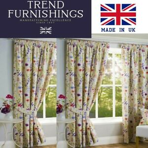 HAMPSHIRE  FULLY LINED PAIR OF PENCIL PLEAT TAPE TOP READY MADE CURTAINS