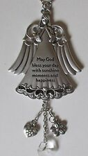 e May God bless your day sunshine happiness GUARDIAN ANGEL CAR MIRROR CHARM ganz