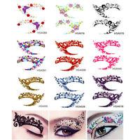 10 Pair Glitter Fun Temporary Eye Tattoo Makeup Transfer Eyeshadow Stickers