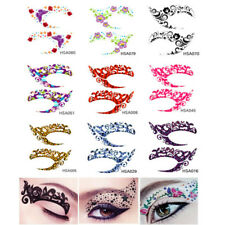 10 Pair Glitter Fun Temporary Eye Tattoo Makeup Transfer Eyeshadow Stickers