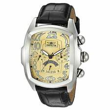 Invicta 23208 Men's Lupah Gold Dial Changeable Black Strap Watch