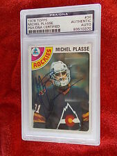MICHEL PLASSE ROCKIES HAND SIGNED 1978-79 TOPPS CARD PSA ENCAPSULATED