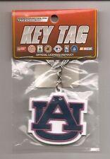 Auburn Tigers Rubber Keychain AU Logo Laser Cut Rubber Key Tag Keychain New