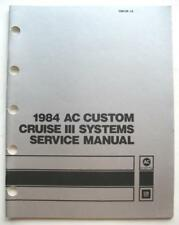 1984 CHEVY OLDS BUICK CADDY PONT CRUISECONT SERV MANUAL