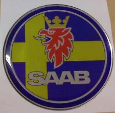 "2.5"" SAAB SWEDISH FLAG Emblem decal 93 9-3 95 9-5 9-2X"