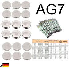 10er Blister AG7 LR57 Uhr Batterien Knopfzellen Alkaline Batterie Spielzeug