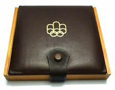 Canada Original coin Wood Box / case for 5 - 10 $ Montreal Olympics Games 1976