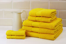 Striped Bright 100 Combed Cotton Soft Absorbant Yellow Hand Towel