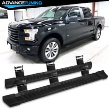 Fits 15-20 Ford F150 SuperCrew Cab Steel Running Boards Side Step Bar Black