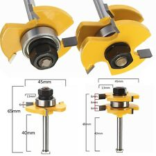 """2pcs Tongue Groove Router Bit 3/4"""" Stock 1/4"""" Shank For Woodworking Tool Hot"""