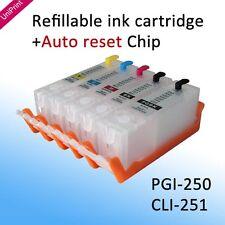5PCS 250 251 refillable cartridge for IP7220 8720 MG5400 5520 6420 MX922 722