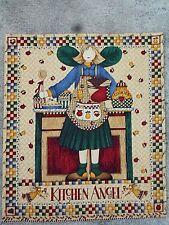 "Cute Kitchen Angel Panel Wall Hanging Quilt Top 13"" x 15"" Debbie Mumm"