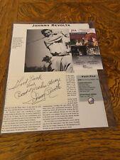 Johnny Revolta Autographed Index Card! PGA Golf Great. d.1991. Rare! Wisconsin