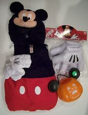 NWT Disney Store 5/6 Mickey Mouse Plush Costume Big Mitt Gloves & Treat Bucket