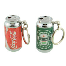 Cans Can Refillable Cigarette Smoking Lighter Creative Mini Keychain Lighters