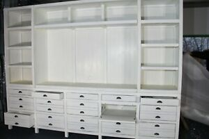 Restoration Hardware Massive TV Cabinet/Entertainment Unit - White