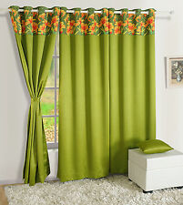 Window Panel Living Room Faux Silk Door Solid Drape Blackout Window Curtain 201