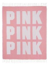Victoria's Secret Pink 2018 Festival Beach Blanket Throw Coral Nwt