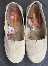 Rocket Dog Willow Sand Women's Beige Slip On Hessian Canvas Ballerina Pumps New