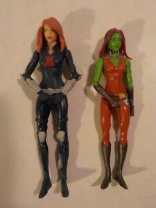 "T Marvel Legends Black Widow Gamora 6"" Basic Figure Lot Hasbro"