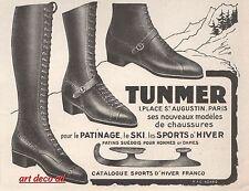 Publicité chaussures pour le patinage patin à glace ice skate vintage ad 1925