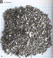 Vanadium metal pieces 81,7% element 23 sample