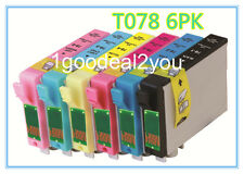 6PK T078 Non-OEM ink for Epson 78 STYLUS PHOTO R260/R280/R380/RX580/RX595/RX680