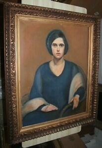 Antique 1932 Oil Painting The Sulky Sitter MATHIAS JOHN NOHEIMER (1909 - 1982)