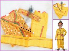 Kids children kanha KRISHNA fancy dress up COSTUME bal Gopal Kurta Dhoti Mukut