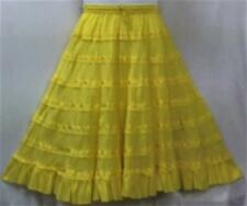Women Clothing A-Line Cotton Skirt One Size Yellow Doesn'tCome S M L XL 1X 2X 3X