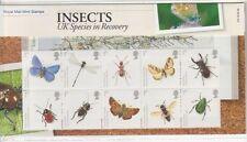 GB 2008 insectos presentación Pack Nº 412 SG 2831-2840 conjunto de sello de menta