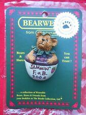 Boyds Bears Pin Bearie Jammin' F.O.B. 2004 Bear n Strawberry Jam Bowl Lapel Pin