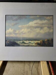 Exquisite  Nautical Josef Joseph M. Arentz Maine Seascape Oil on  Board Painting