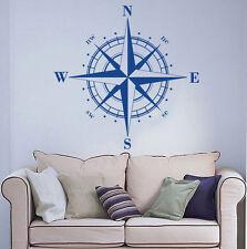 Vinyl Sticker Nautical Compass Rose Wall Decal Sailing Sailor Wall Art Decor