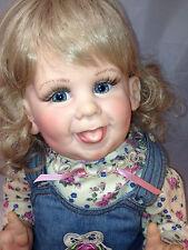 "Denim Darling Fayzah Spanos 26"" Vinyl/Cloth Doll Bubblee Face 38/500 1997 RARE"