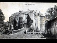 HARCOURT (27) CHATEAU du XIV° Siécle , cliché début 1900