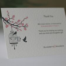 50 Blossom Personalised Engagement Thank You Cards