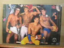 Perfect male locker room Hot Guys ORIGINAL Vintage Poster 1989  5962
