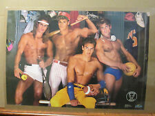 Perfect male locker room Hot Guys ORIGINAL Vintage Poster 1989  5962