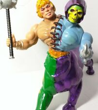 Custom HELETOR Masters of the Universe Vintage figure He-man Skeletor Battle Cat