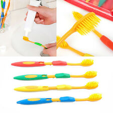 4Pc Home Double Ultra Soft Toothbrush Bamboo Charcoal Nano Brush Oral Clean Care