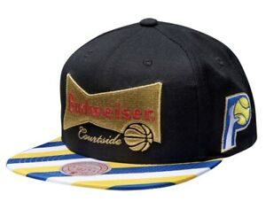 NEW MITCHELL AND NESS INDIANA PACERS X BUDWEISER SNAPBACK HAT 35$ MSRP