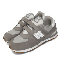 New Balance YV574SPU W Wide 574 Grey Gum White Kid Preschool Shoes YV574SPUW