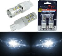 LED Light 50W 7443 White 5000K Two Bulbs Front Turn Signal Replacement OE Fit