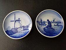 "2 Vintage Royal Copenhagen small Plates Langelinie Dybbol Molle Denmark 3.25""D"