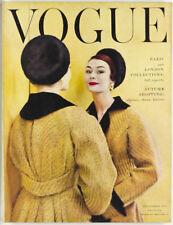 Paris LONDON Collections AUTUMN CLOTHES UK Vogue magazine September 1954 Vtg 50s