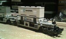 LEGO® City Eisenbahn maersk Container Doppeltiefladerwaggon MOC bricktrain 10219