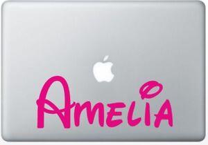 "Personalised, custom, name Decal, Macbook, laptop sticker, 20cm, 8"" Long"