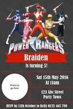 Personalised Power Ranger Birthday Party Invitation - You Print