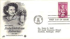 USA FIRST DAY COVER 1981 BABE DIDRIKSON ZABARIAS - SPORTS GOLF